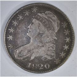 1820 CAPPED BUST HALF DOLLAR LARGE DATE  FINE