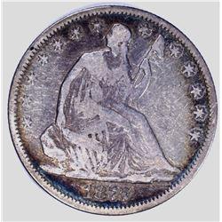 1877 SEATED HALF DOLLAR, FINE