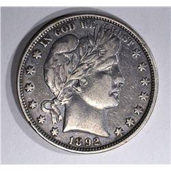 1892-O BARBER HALF DOLLAR, XF KEY COIN