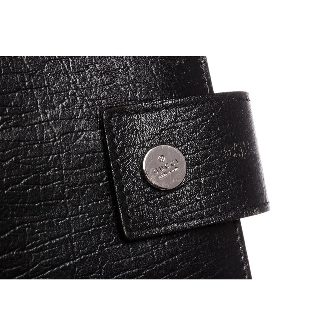 212d6264c ... Image 9   Gucci Black Textured Leather Small Agenda Cover