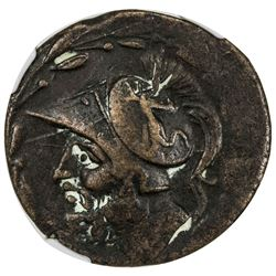 BRETTIAN LEAGUE: AE 27 (double-unit) (15.93g), ca. 214-203 BC. NGC EF
