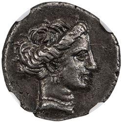EUBOEA: CHALKIS: AR drachm (3.61g), ca. 338-271 BC. NGC EF