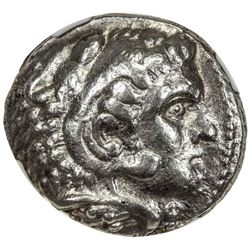 MACEDONIAN KINGDOM: Alexander III, the Great, 336-323 BC, AR tetradrachm (17.20g). NGC VF