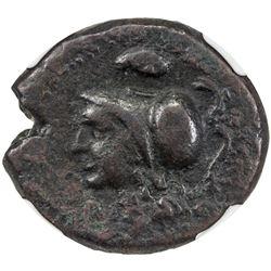 MORGANTINA: AE 22 (7.55g), ca. mid-2nd century BC. NGC VF
