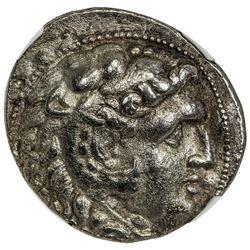 SELEUKID KINGDOM: Seleukos I Nikator, 312-280 BC, AR tetradrachm (17.49g). NGC EF
