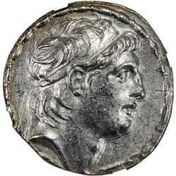 SELEUKID KINGDOM: Antiochos VII Euergetes, 138-129 BC, AR tetradrachm (16.88g), ND. NGC AU