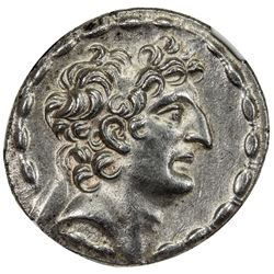 SELEUKID KINGDOM: Antiochos VIII Grypos, 121-96 BC, AR tetradrachm (16.00g). NGC MS