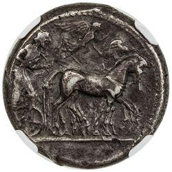 SYRACUSE: AR tetradrachm (16.99g), ca, 480-475 BC. NGC VF