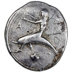 TARENTUM (TARAS): AR didrachm (7.71g), ca. 460-420 BC. F
