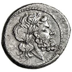 ROMAN REPUBLIC: Anonymous, before 211 BC, AR victoriatus (3.00g), Rome. VF-EF