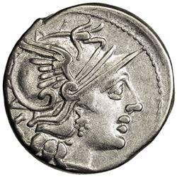 ROMAN REPUBLIC: P. Cornelius Sulla, 151 BC, AR denarius (3.82g), Rome. VF