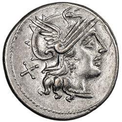 ROMAN REPUBLIC: Safra, 150 BC, AR denarius (3.65g), Rome. VF-EF