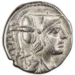 ROMAN REPUBLIC: Ti. Veturius, 137 BC, AR denarius (3.82g), Rome. VF