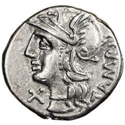 ROMAN REPUBLIC: M. Baebius Q.f. Tampilus, 137 BC, AR denarius (3.89g), Rome. VF