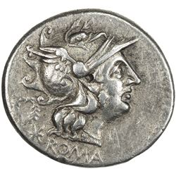 ROMAN REPUBLIC: C. Servilius M.f., 136 BC, AR denarius (3.87g), Rome. VF-EF