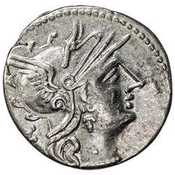 ROMAN REPUBLIC: P. Calpurnius, 133 BC, AR denarius (3.49g), Rome. VF-EF