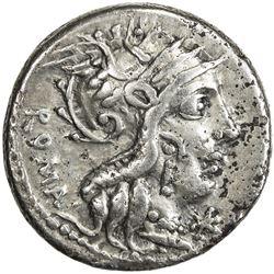 ROMAN REPUBLIC: M. Calicus, Q. Caecilius Metellus & Cn. Fulvius, 117-116 BC, AR denarius (3.77g), Ro