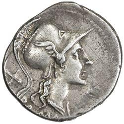 ROMAN REPUBLIC: Anonymous, 115/114 BC, AR denarius (3.93g), Rome. VF