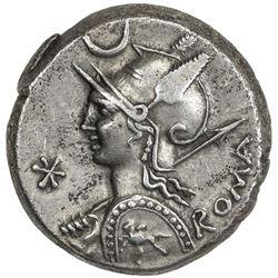 ROMAN REPUBLIC: P. Licinius Nerva, 113/112 BC, AR denarius (4.11g), Rome. VF-EF