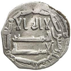 ABBASID OF YEMEN: al-Rashid, 786-809, AR local dirham (1.21g), San'a, AH188. VF