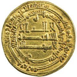 ABBASID OF YEMEN: al-Muktafi, 902-908, AV dinar mutawwaq (2.88g), San'a, AH292. VF