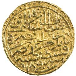 OTTOMAN EMPIRE: Selim I, 1512-1520, AV sultani (3.51g), Kostantiniye, AH918. EF