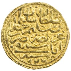 OTTOMAN EMPIRE: Suleyman I, 1520-1566, AV sultani (3.49g), Amasiya, AH926. EF