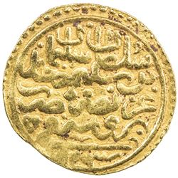 OTTOMAN EMPIRE: Suleyman I, 1520-1566, AV sultani (3.47g), Bursa, AH926. VF