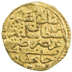 OTTOMAN EMPIRE: Suleyman I, 1520-1566, AV sultani (3.47g), Canca, AH926. VF
