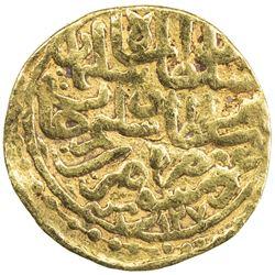 OTTOMAN EMPIRE: Suleyman I, 1520-1566, AV sultani (3.26g), Dimashq, AH927. F-VF