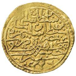 OTTOMAN EMPIRE: Suleyman I, 1520-1566, AV sultani (3.31g), Halab, AH926 (frozen). EF