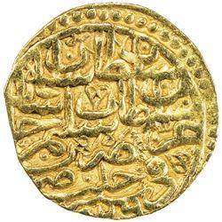 OTTOMAN EMPIRE: Suleyman I, 1520-1566, AV sultani (3.42g), Halab, AH926. VF-EF