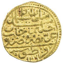 OTTOMAN EMPIRE: Suleyman I, 1520-1566, AV sultani (3.47g), Kratova, AH926. VF