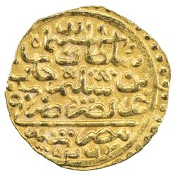OTTOMAN EMPIRE: Suleyman I, 1520-1566, AV sultani (3.47g), Misr, AH926. EF