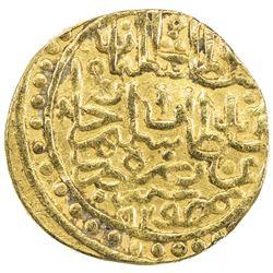 OTTOMAN EMPIRE: Suleyman I, 1520-1566, AV sultani (3.36g), Misr, AH929. VF