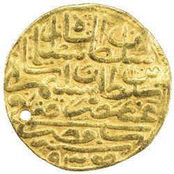 OTTOMAN EMPIRE: Suleyman I, 1520-1566, AV sultani (3.37g), Misr, AH935. VF
