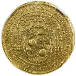 SALZBURG: Maximilian Gandolph, von Kuenburg, 1668-1687, AV 5 ducats, 1668. NGC EF