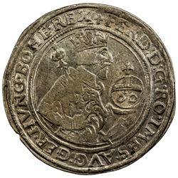 AUSTRIA: Ferdinand I, 1521-1564, AR 60 kreuzer (guldentaler) (24.47g), Hall, 1562. VF-EF