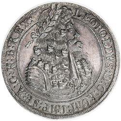 AUSTRIA: Leopold I, 1657-1705, AR taler (28.52g), 1694. EF