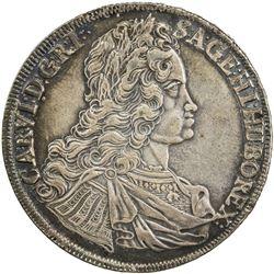 AUSTRIA: Karl VI, 1711-1740, AR thaler, 1740. VF-EF