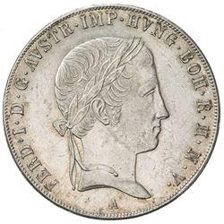 AUSTRIA: Ferdinand I, 1835-1848, AR taler, 1841-A. AU