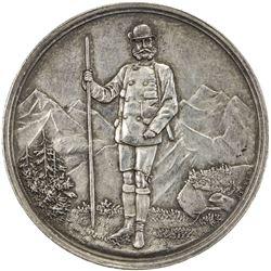 AUSTRIA: Franz Joseph, 1848-1916, AR shooting medal (25.52g), 1889. AU
