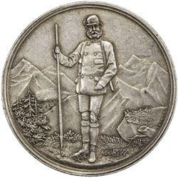 AUSTRIA: Franz Joseph, 1848-1916, AR shooting medal (24.71g), 1889. EF