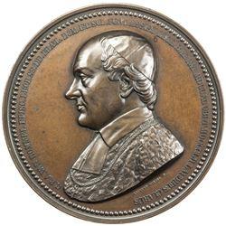 BELGIUM: AE medal (185.7g), 1852. UNC