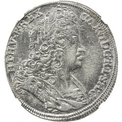 BOHEMIA: Karl VI, 1711-1740, AR 1/2 thaler, Kuttenberg, 1722-IFW. NGC AU