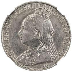 CYPRUS: Victoria, 1878-1901, AR 4 1/2 piastres, 1901. NGC AU