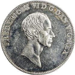 DENMARK: Frederik IV, 1808-1839, AR speciedaler, 1837. PCGS AU58