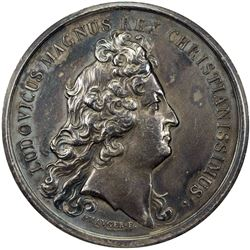 FRANCE: Louis XIV, 1643-1715, AR medal (38.37g), 1678 (after 1870). AU