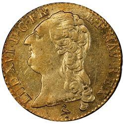 FRANCE: Louis XVI, 1774-1792, AV louis d'or, Paris, 1787-A. PCGS MS62