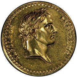 FRANCE: Napoleon I, Emperor, 1804-1814, AV medal, L'An XII (1804). PCGS UNC
